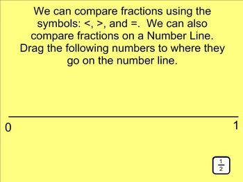 Ordering Fractions on a Number Line SMARTnotebook