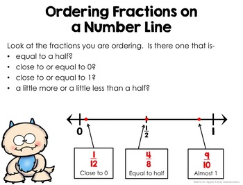 Ordering Fractions on a Number Line Task Cards