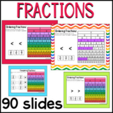 Ordering Fractions practice for Google Slides™, Comparing Fractions