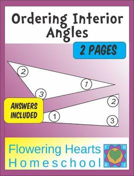 Ordering Inside Angles Worksheet Set