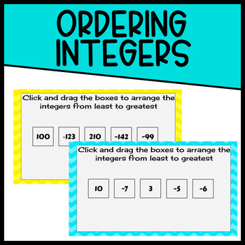 Ordering Integers- Digital