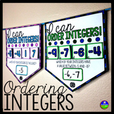 Ordering Integers Math Pennant Activity