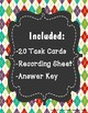 Ordering Integers Task Cards (Set 2)