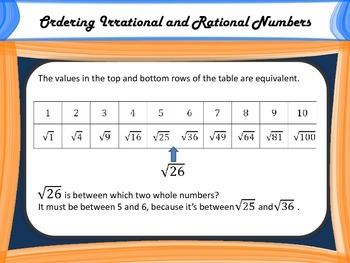 Ordering Irrational Numbers - An Active Activity