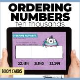 Ordering 5 Digit Numbers Digital Task Cards