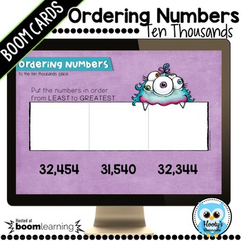 Ordering 5 Digit Numbers Digital Task Cards