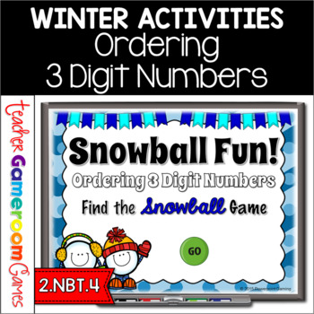 Ordering Number from Least to Greatest Winter PPT Game