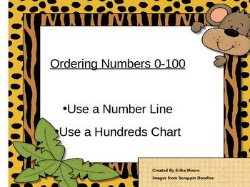 Ordering Numbers 0-100