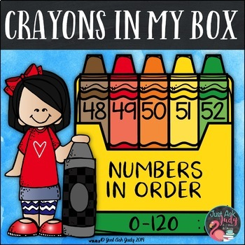 Ordering Numbers 0-120 Crayons in My Box