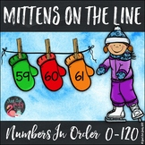 Ordering Numbers 0-120 Mittens on the Line