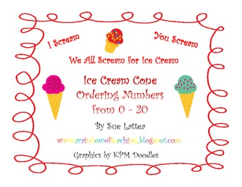 Ordering Numbers 0-20 with Ice Cream Cones