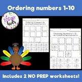 Ordering Numbers 1-10!