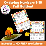 Ordering Numbers 1-10 (Fall)