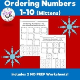 Ordering Numbers 1-10 (Mittens)