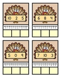 Ordering Numbers 1-10 Thanksgiving