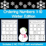 Ordering Numbers 1-10 Winter Edition
