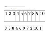 Ordering Numbers 1-10 (cut and paste)