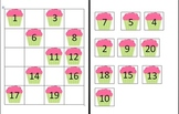 Ordering Numbers 1-20 Cupcakes- Editable