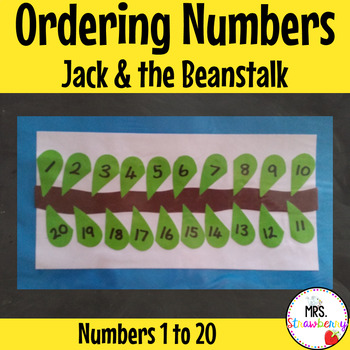 Ordering Numbers 1-20 {Jack and the Beanstalk}