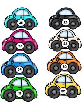 Ordering Numbers 1-50: Cars