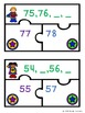 Ordering Numbers Game Puzzles for Counting to 100 Center Activity K.CC.2