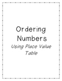 Ordering Numbers Activity