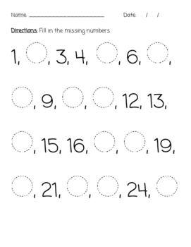 Ordering Numbers - Beginning, Middle, End