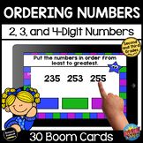 Ordering Numbers | Boom Cards Distance Learning