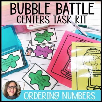 Ordering Numbers Bubble Battle Centers Task Kit