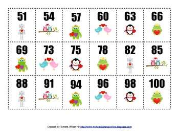 Ordering Numbers - Common Core 1.NBT.1