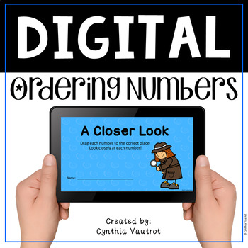 Ordering Numbers Digital Activity with Google Slides