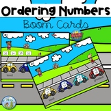 Ordering Numbers Distance Learning Boom Cards