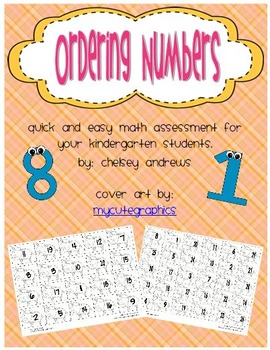 Ordering Numbers Freebies