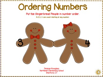 Ordering Numbers: Gingerbread fun