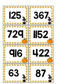 Ordering Numbers Halloween