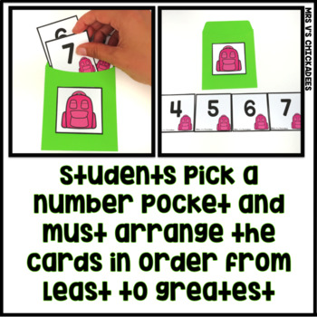 Ordering Numbers Hands on Center: 1-100