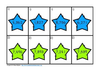 Ordering Numbers In The Thousands Stars