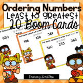 Ordering Numbers: Least to Greatest BOOM Cards