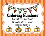 Ordering Numbers Least to Greatest, Greatest to Least Tens