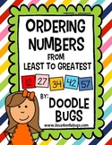 Ordering Numbers Least to Greatest Math Unit