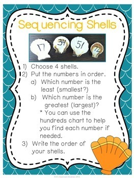 Ordering Numbers Least to Greatest Ocean Theme