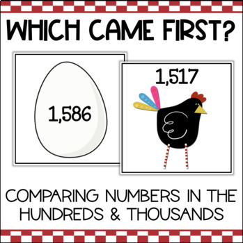 Comparing Numbers in the Hundreds and Thousands Place Value Game