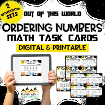 Ordering Numbers Place Value Task Cards { Differentiated & Supports Common Core}