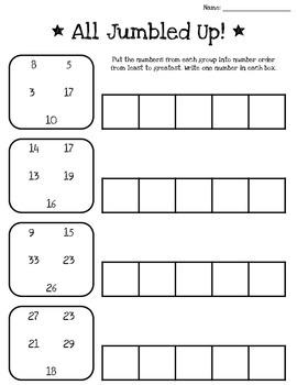 Ordering Numbers Printable Packet