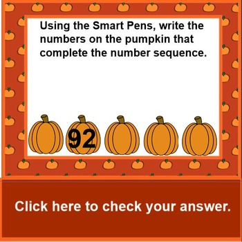 Ordering Numbers Pumpkins On a Fence