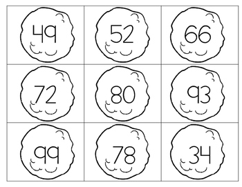 Ordering Numbers Snowball Fight Math Task