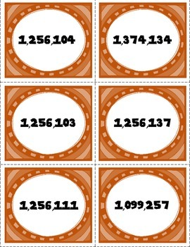 Ordering Whole Numbers Task Cards