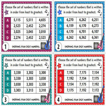 Ordering Numbers Task Cards {Order Four-Digit and Five-Digit Numbers}