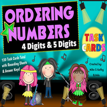 Ordering Numbers Task Cards {Order Four-Digit and Five-Dig
