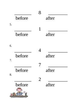 Ordering Numbers Using a Number Line 0-10